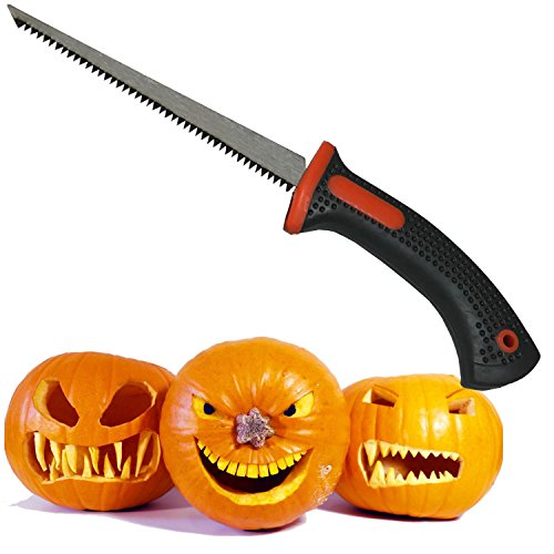 "Keyfit Tools PROFESSIONAL Pumpkin Carving Knife, Adult Use Only, Extra Sharp Heat Treated""Blue Steel"" Blade, Halloween Jack O' Lantern Carving Knife, Fruit Carver Knife, Tool"