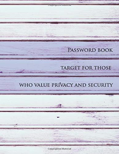 Password book target for those who value privacy and security