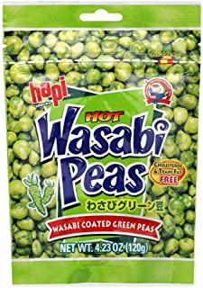 Hapi Wasabi Coated Green Peas, 4.23 oz (12 pack)