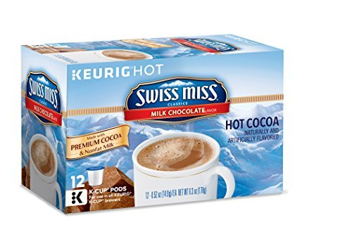 Swiss Miss Milk Chocolate Hot Cocoa, Keurig K-Cups, 72 Count by Swiss Miss