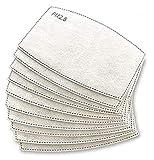 Pack 10x Filtro Desechable para Mascarilla. Lote de Filtros Intercambiables con 5 Capas de Filtración Material Suave y Transpirable Evita Polvo Sustancias Nocivas Contaminación