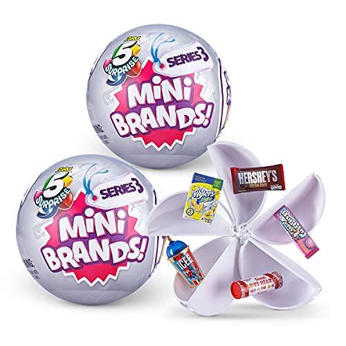 5 Surprise Mini Brands Series 3 Mystery Capsule Real Miniature Brands...