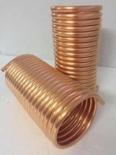 Spirale aus Kupferrohr 12x1mm für OFENROHR 150mm aus 10m mit InnenDurchmesser von ca.153mm