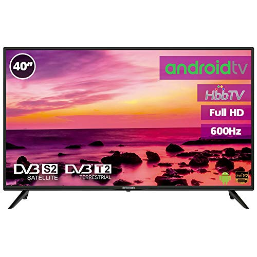 Television LED 40' Full HD INFINITON Smart TV-Android TV (TDT2, HDMI, VGA, USB) (40 Pulgadas)