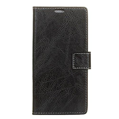 fancartuk Kompatibel mit BlackBerry Aurora Hülle Leder, PU Brieftasche etui Schutzhülle Tasche Slim Flip Case Cover mit Magnetverschluss für BlackBerry Aurora (Schwarz)