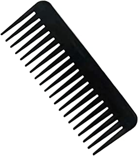 NuAngela Wide Tooth Hair Comb No Static, Detangling Styling Comb For Thick Long Curly Hair, No Handle Round Teeth, Reduce ...