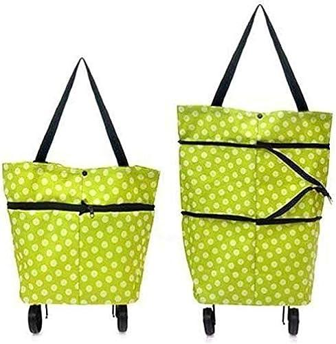 Mobhada Lightweight Shopping Trolley Wheel Folding Travel Luggage Bag