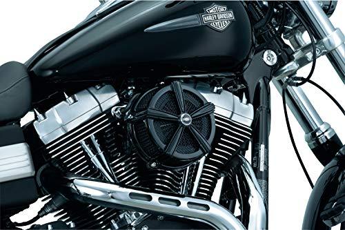 Kuryakyn 9554 Mach 2 Air Cleaner/Filter Kit for 2008-2017 Harley-Davidson Motorcycles, Gloss Black