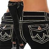 Pantalones Jeans Nuevos Pantalones Vaqueros De Talla Grande para Mujer, Azul, Cintura Media, Pantalones...