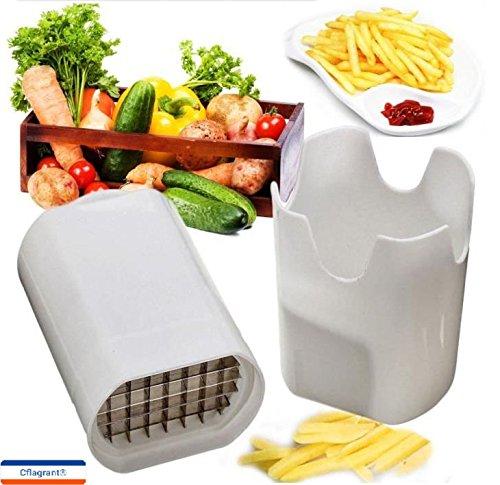 Cflagrant® Coupe Frite/Legumes Manuel Génial - Livré avec 2 grilles de Coupe - Coloris aléatoire