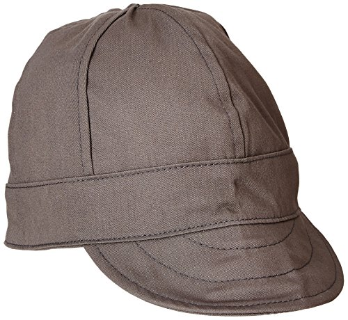 Lapco FR Lap 6CFRGY7 1/4 Flame Resistant 6-Panel Welder's Caps, 100% Cotton, HRC 2, NFPA 70E, 7 1/4', Gray