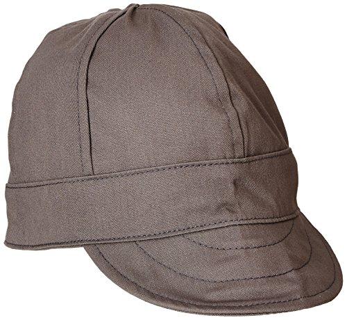 Lapco FR Lap 6CFRGY7 1/4 Flame Resistant 6-Panel Welder's Caps, 100% Cotton, HRC 2, NFPA 70E, 7 1/4', Gray