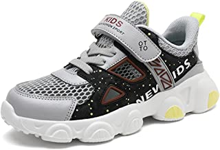 Vorgelen Zapatillas de Deporte para Niños Niña Antideslizante Calzado de Running Correr para Interior Exterior Velcro Tran...