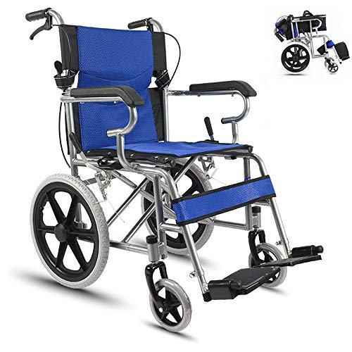 HPDOSHP Rollstühle mit Selbstantrieb - Transportrollstühle - Leichte Rollstühle für Erwachsene - Drive Transport Rollstuhl - Ultraleicht und voll faltbar, Rollstuhl mit Verstellbarer,A-02
