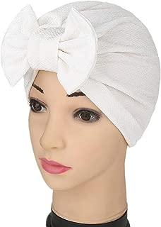 YiYi Operation Womens Stretchy Cotton Bowknot Women Turban Hat Chemo Beanies Hijab Headwear Cap Head Cover