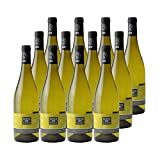 Côtes de Gascogne Domus Colombar Sauvignon Sec Blanc - Domaine d'Uby - Vin IGP Blanc du Sud-Ouest - Cépages Colombard, Sauvignon Blanc - Lot de 12x75cl