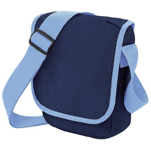 Bagbase - Bolso bandolera mini (2 ltiros) (Talla Única Azul marino azul cielo)