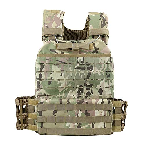 AOSUAI Outdoor Outdoor Sports Body Ombat Assault Tactical Vest Molle Vest Carrier Plate Multifunction (Color : 4)