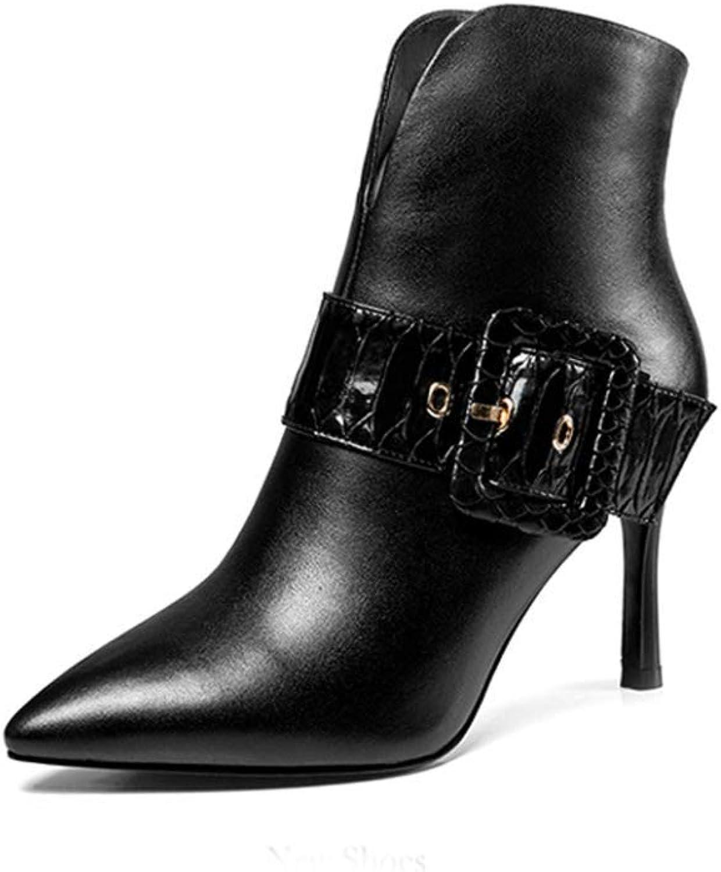 Fuxitoggo Frauen Stiefelies Herbst Damenschuhe Stiletto Stiefel Stiefel Winter High Heels Weibliche koreanische Version der hochhackigen Stiefel (Farbe   Schwarz, Größe   36)  Unterstützung Großhandel Einzelhandel