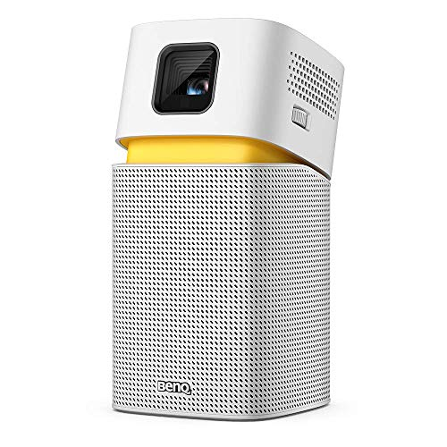 BenQ GV1 Wireless Mini Portable Projector | Google Cast & AirPlay | Bluetooth Speaker | Wi-Fi (or Wireless Display) | USB-C | HDMI Connectivity