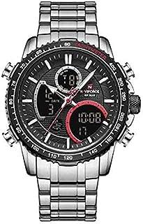 Naviforce Casual Watch For Men Analog-Digital Stainless Steel - 9182 , 2725609894239