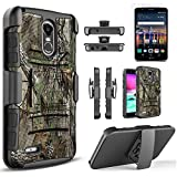 LG Stylo 3 Case, LG Stylo 3 Plus Case, with [Premium Screen Protector Included] Built-In Kickstand Hybird Shockproof Phone Cover With Belt Clip HolsterFor LG Stylo 3 /LG Stylo 3 Plus -Camo