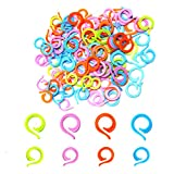 AIEX 40pcs Knitting Stitch Markers, 20 Large + 20 Small Plastic Crochet Stitch Markers, Knitting Stitch Rings for Sewing Knitting DIY and Handmade Crafts (Random Colors)
