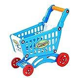 Juguetes de inteligencia Niños Juguete Empujar a mano Simulación plástica Mini Supermercado Carrito de compras Bebé Diversión Cochecito For niños pequeños Juguetes de inteligencia ( Color : Blue )