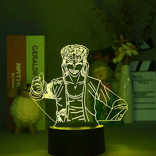 Lámpara de ilusión 3D Luz de noche LED Interruptor táctil de encendido Danganronpa Mondo Owada Lámpara de mesa Decoración que cambia de color Regalo para niños Habitación para niños Regalo para niña