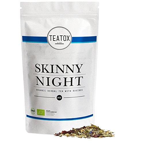 Teatox SKINNY NIGHT   Bio Kräutertee mit Rooibos   entspannende Mischung für den Abend   koffeinfrei mit feinsten Bio-Zutaten   harmonisch & wohlschmeckend   100% biologisch, lose Blätter (im Ziplock)