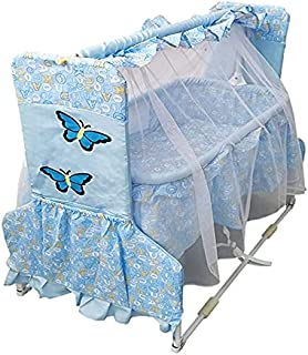 Cradle for Children with Mosquito Net by Babylove, Blue, 27-732