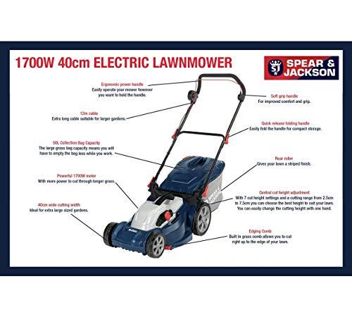 Spear & Jackson - 40cm Corded Rotary Lawnmower - 1700W