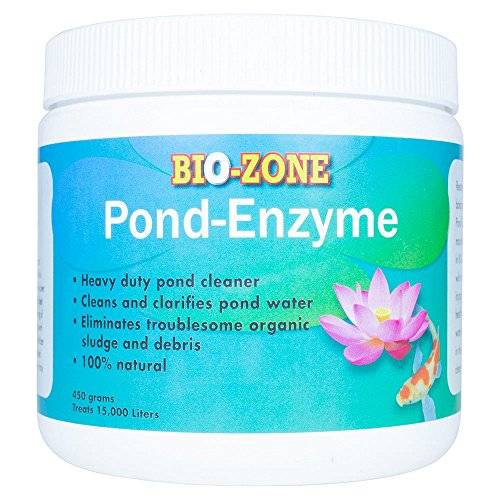 BioZone Pond Enzyme Treatment – Ecofriendly Water Cleaner with Natural Reduces Bacteria Fish Waste Cloudiness –450 Grams Treats 15000 Liters
