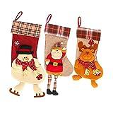 Hearthrousy - Calcetines de Navidad para calcetines de Navidad (1 unidad)
