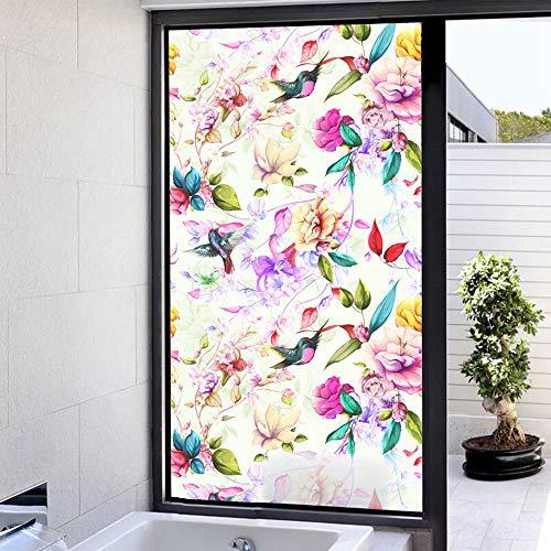 Bunt Milchglasfolie Fensterfolie Selbsthaftend Sichtschutz Sonnenschutzfolie Fenster Innen Blickdicht Statisch Haftend Dekorfolie Sichtschutzfolie Fenster Anti-UV