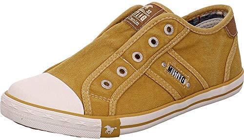 MUSTANG Damen 1099-401 Slip On Sneaker, Ockergelb 660, 40 EU