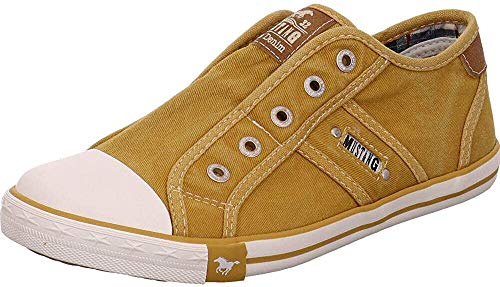 MUSTANG Damen 1099-401-660 Sneaker, Ockergelb 660, 39 EU