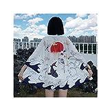 UKKO Kimono Mujer Kimono Ropa Tradicional Crane Carpa Kimono Vestido Camisas Mujer Samurai Yukata Man Cardigan Camisa