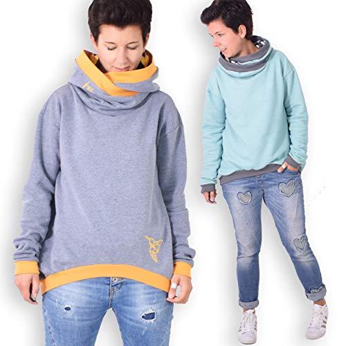 leni pepunkt Schnittmuster Pullover Damen in den Größen XS - XXXL zum Nähen mit Kurzanleitung und 5 Webetiketten