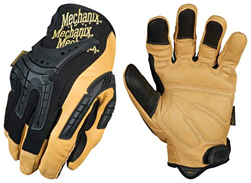 Mechanix Wear: CG Heavy Duty Leather Work Gloves (Medium, Brown/Black)
