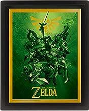 The Legend Zelda Link 3d Linticular Framed Poster 25 X 20 Cm