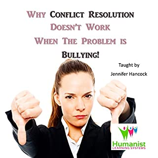 Why Conflict Management Doesn't Work When the Problem Is Bullying                   By:                                                                                                                                 Jennifer Hancock                               Narrated by:                                                                                                                                 Jennifer Hancock                      Length: 58 mins     2 ratings     Overall 5.0