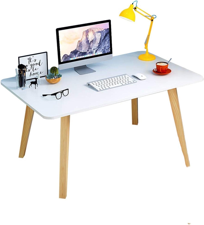 Chunlan Folding table Computer Desk, Desk, Laptop Desk, Suitable for Home Office, Solid Wood Legs, Durable