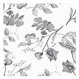 Vinilo Adhesivo para Muebles y Pared, 45 x 500 cm, Floral, Color Gris, VNL-114