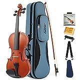 Eastar Akustische Violine Set 3/4 Geige für Anfänger mit Koffer, Schulterstütze, Bogen, Kolophonium und Saiten (EVA-1)