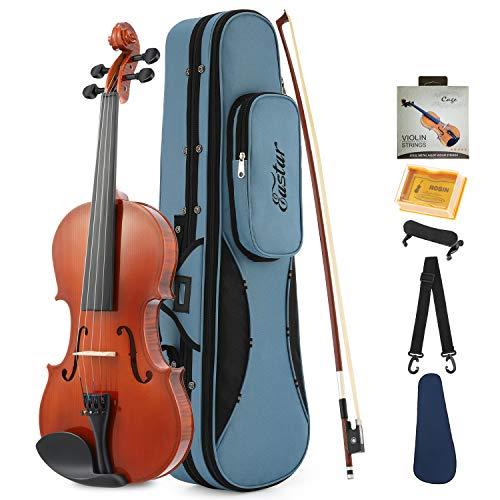 Eastar Akustische Violine Set 1/2 Geige für Anfänger mit Koffer, Schulterstütze, Bogen, Kolophonium und Saiten (EVA-1)