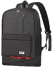 [AISFA]リュック リュックサック PCバック ビジネスリュック 大容量 ラップトップ バックパック USB充電ポートイヤホン穴付き 男女兼用 アウトドア旅行防水
