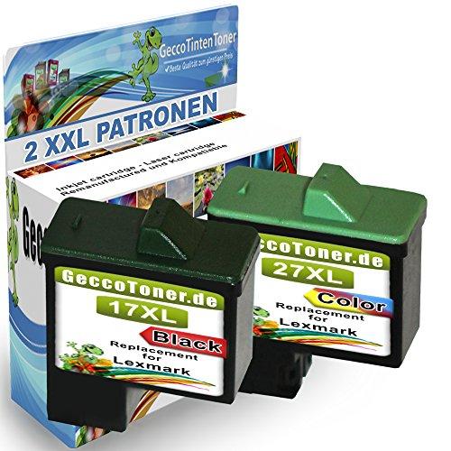 2X Druckerpatronen Als Ersatz für Lexmark 17xl + 27xl für Lexmark X2230 X2250 X1180 X1185 X1190 X1250 X1270 X1290 X1196 Z614 Z615 Z617 Z640 Z645 Z717