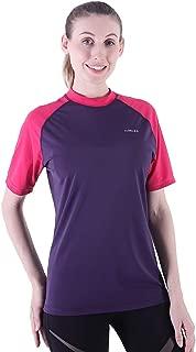 Rashguard for Women UV Sun Protection Rash Guard Short Sleeve Surfing Wetsuit Swim Shirt Bathing