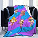 GIPHOJO Soft Micro Fleece Blanket Bubble Guppies Plush Throws Blanket for Children Kids Boys Girls for Bed Sofa Couch Chair Lightweight for All Seasons Gifts 50'X40'
